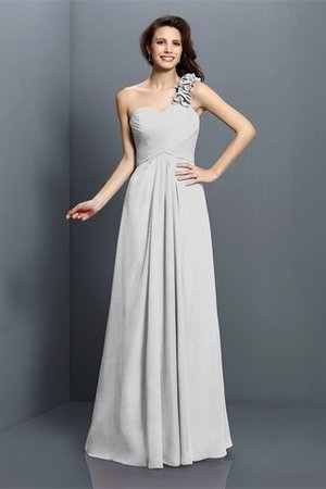 Zipper Up One Shoulder Chiffon A-Line Bridesmaid Dress - 29