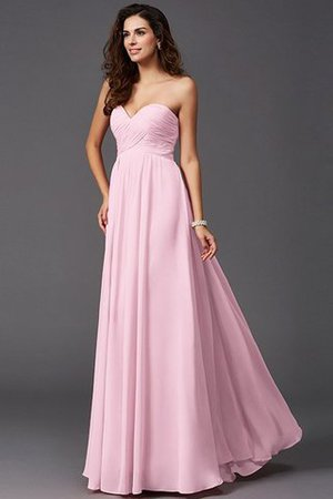 A-Line Sleeveless Chiffon Empire Waist Bridesmaid Dress - 22