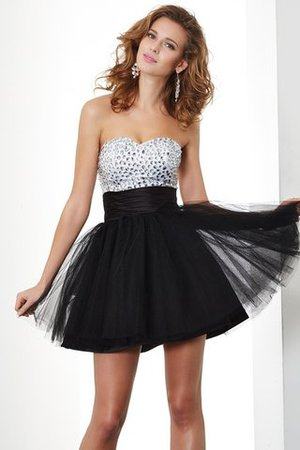 Sweetheart Organza A-Line Beading Homecoming Dress - 1