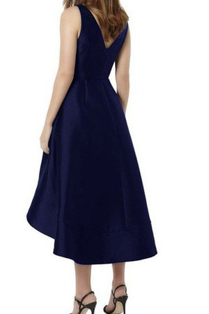 Princess Pear Misses Tea Length Natural Waist Bridesmaid Dress - 2