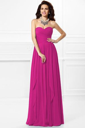 A-Line Zipper Up Long Floor Length Bridesmaid Dress - 10