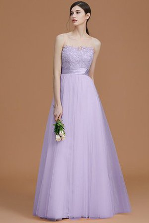 Tulle Zipper Up A-Line Appliques Bridesmaid Dress - 25