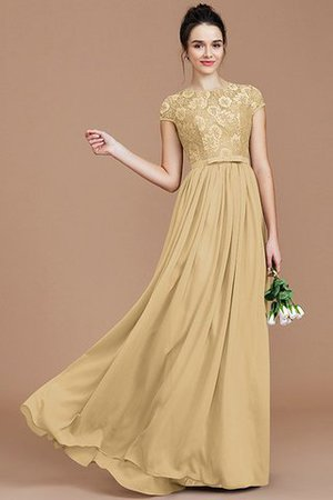 A-Line Jewel Lace Short Sleeves Bridesmaid Dress - 18