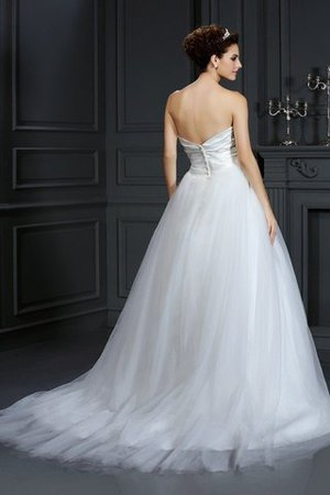 Sleeveless Zipper Up Court Train Ball Gown Natural Waist Wedding Dress - 2