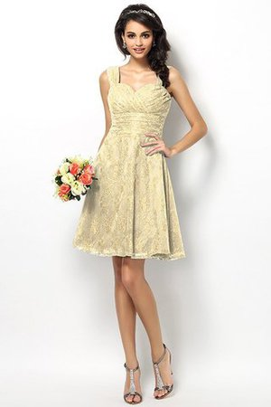 Wide Straps Short Sleeveless Natural Waist Satin Bridesmaid Dress - 6