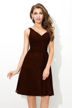 Chiffon Princess Sleeveless Natural Waist Draped Bridesmaid Dress - 7
