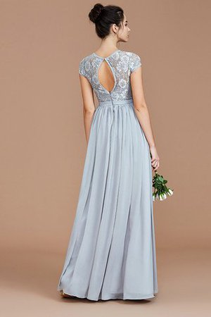 A-Line Jewel Lace Short Sleeves Bridesmaid Dress - 36