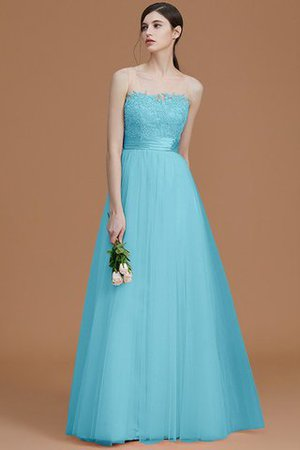 Tulle Zipper Up A-Line Appliques Bridesmaid Dress - 10
