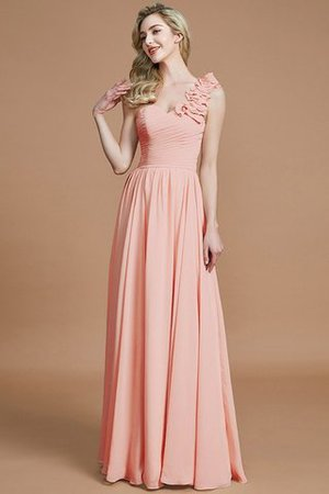 Sleeveless Natural Waist One Shoulder A-Line Chiffon Bridesmaid Dress - 26