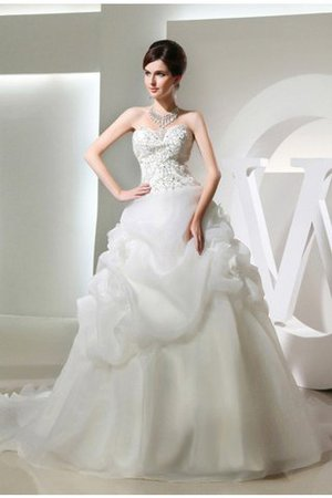 Sleeveless Long Ball Gown Chapel Train Empire Waist Wedding Dress - 1