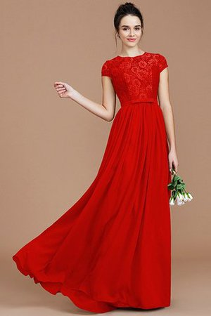 A-Line Jewel Lace Short Sleeves Bridesmaid Dress - 29