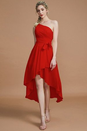 Asymmetrical Chiffon Natural Waist Bridesmaid Dress - 28