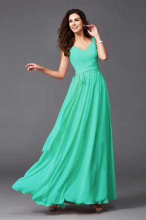 Sashes Floor Length Spaghetti Straps A-Line Bridesmaid Dress - 18