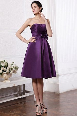 Zipper Up Princess Short Flowers Pleated Bridesmaid Dress - 14