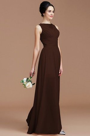 Ruched Zipper Up Natural Waist Jewel Sleeveless Bridesmaid Dress - 12