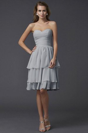 Short Chiffon Sheath Sleeveless Zipper Up Bridesmaid Dress - 26