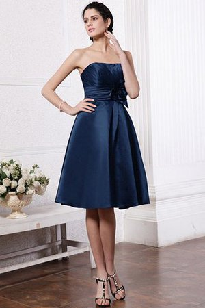 Zipper Up Princess Short Flowers Pleated Bridesmaid Dress - 10