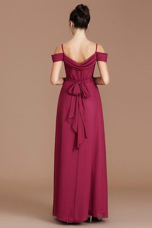 Chiffon Floor Length A-Line Ruched Bridesmaid Dress - 36