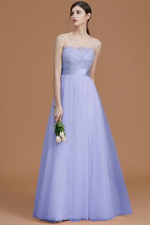 Tulle Zipper Up A-Line Appliques Bridesmaid Dress - 23