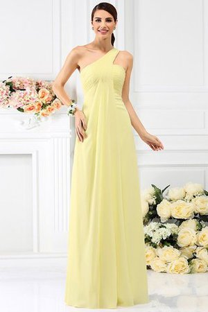 Zipper Up Long Floor Length A-Line Bridesmaid Dress - 8