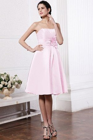Zipper Up Princess Short Flowers Pleated Bridesmaid Dress - 24