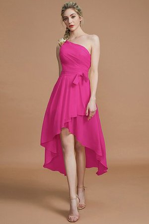 Asymmetrical Chiffon Natural Waist Bridesmaid Dress - 16