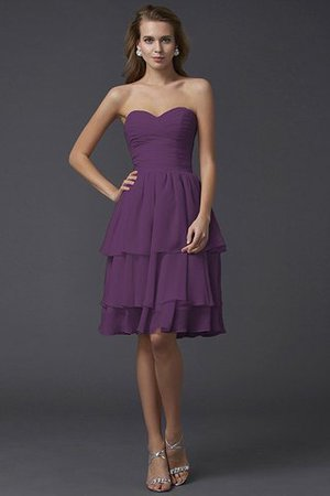 Short Chiffon Sheath Sleeveless Zipper Up Bridesmaid Dress - 7