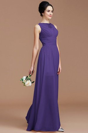 Ruched Zipper Up Natural Waist Jewel Sleeveless Bridesmaid Dress - 30