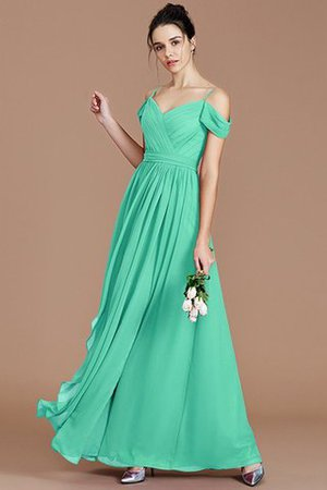 Chiffon Floor Length A-Line Ruched Bridesmaid Dress - 21