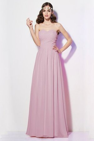 Pleated Zipper Up Empire Waist A-Line Bridesmaid Dress - 20
