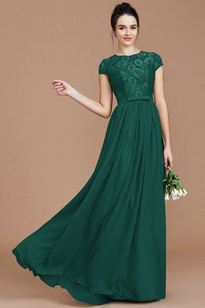 A-Line Jewel Lace Short Sleeves Bridesmaid Dress - 15