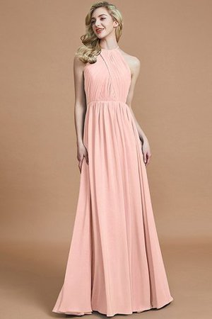 Sleeveless Floor Length A-Line Scoop Bridesmaid Dress - 26