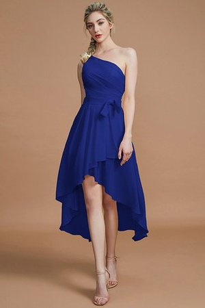 Asymmetrical Chiffon Natural Waist Bridesmaid Dress - 30