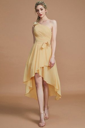 Asymmetrical Chiffon Natural Waist Bridesmaid Dress - 18