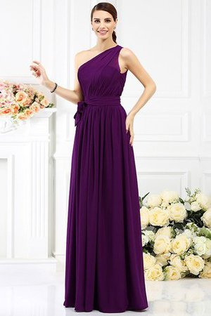 Long Sleeveless A-Line One Shoulder Bridesmaid Dress - 12