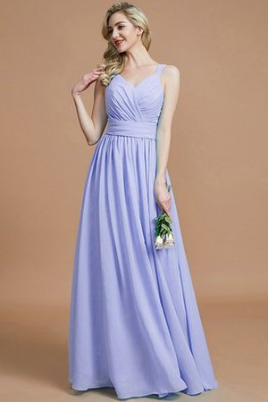 Sleeveless Natural Waist A-Line V-Neck Bridesmaid Dress - 23