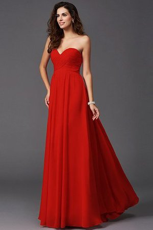 A-Line Sleeveless Chiffon Empire Waist Bridesmaid Dress - 23