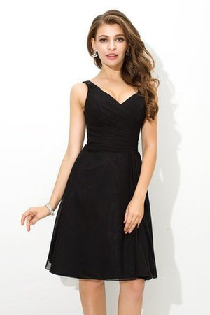 Chiffon Princess Sleeveless Natural Waist Draped Bridesmaid Dress - 1