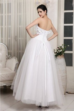 Sleeveless Sweetheart Organza Ankle Length Ball Gown Wedding Dress - 2