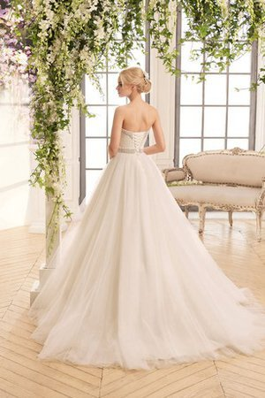 Criss-Cross Court Train Long Ball Gown Beading Wedding Dress - 2