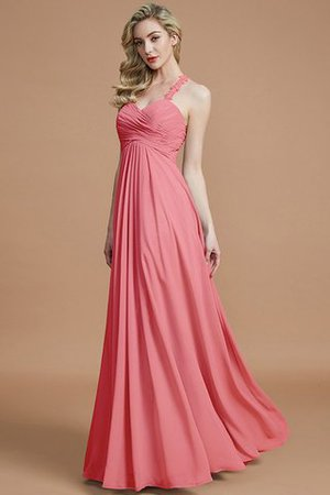 Natural Waist Floor Length Sweetheart Ruched Princess Bridesmaid Dress - 34