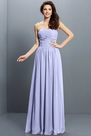 Strapless A-Line Pleated Zipper Up Bridesmaid Dress - 17