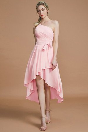 Asymmetrical Chiffon Natural Waist Bridesmaid Dress - 27