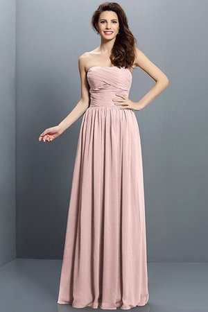 Strapless A-Line Pleated Zipper Up Bridesmaid Dress - 21