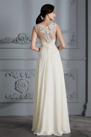 Floor Length Sleeveless Natural Waist Chiffon A-Line Wedding Dress - 7
