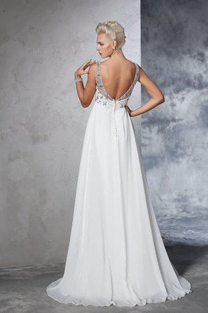 Sleeveless Empire Waist Sweep Train A-Line Long Wedding Dress - 2