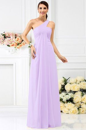 Zipper Up Long Floor Length A-Line Bridesmaid Dress - 19