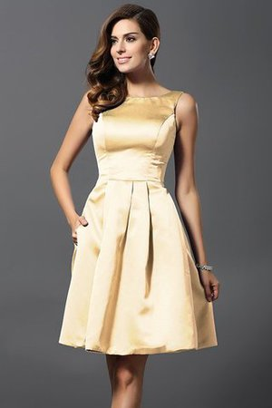 A-Line Knee Length Natural Waist Bridesmaid Dress - 6