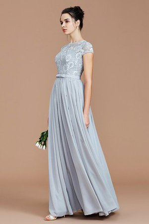 A-Line Jewel Lace Short Sleeves Bridesmaid Dress - 4