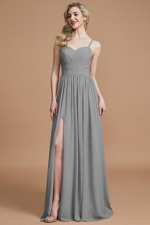 Natural Waist Sleeveless Floor Length Princess Chiffon Bridesmaid Dress - 32